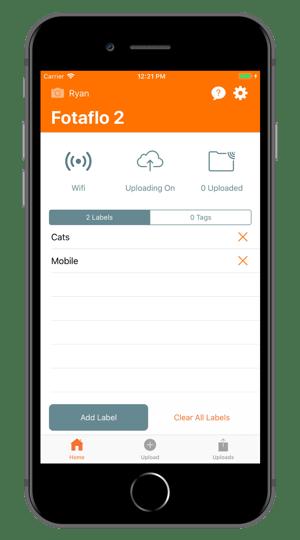 Fotaflo iOS Main Activity
