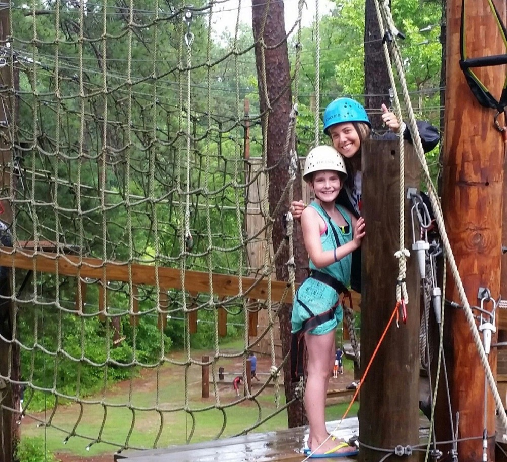 Smiling canopy tour guests