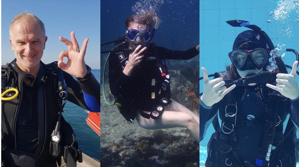 Scuba Diving Collage