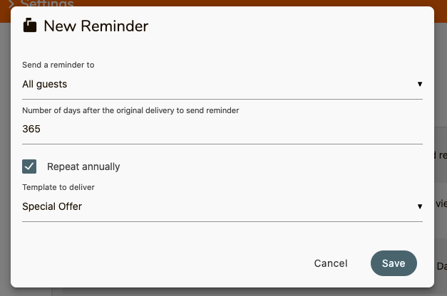 Automatic Reminder Improvements